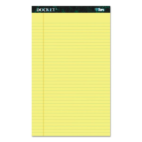 TOPS Docket Yellow Legal Pads