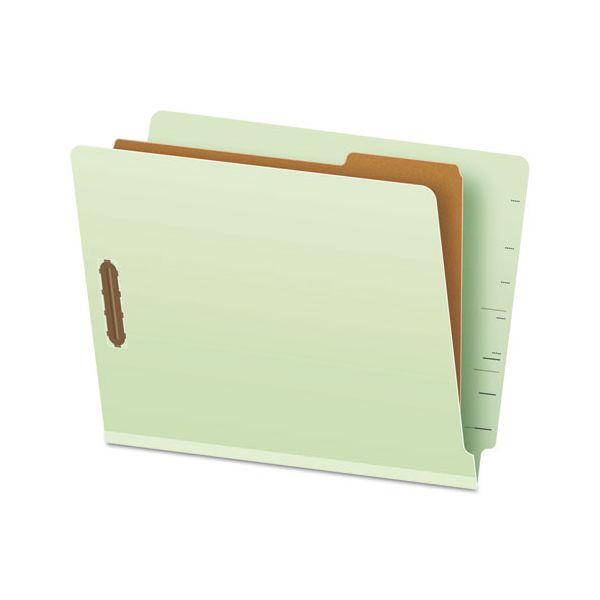 Pendaflex Pressboard End Tab Classification Folders, Letter, 1 Divider/4-Section, 10/Box