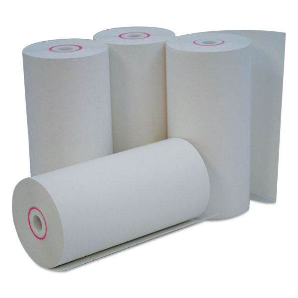 "Universal Single-Ply Thermal Paper Rolls, 4 3/8"" x 127 ft, White, 50/Carton"