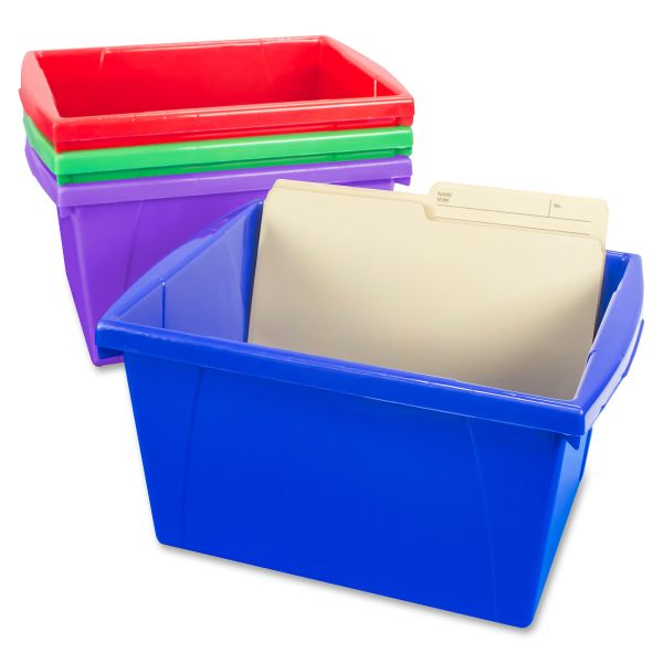Storex 4 Piece Small Storage Bins