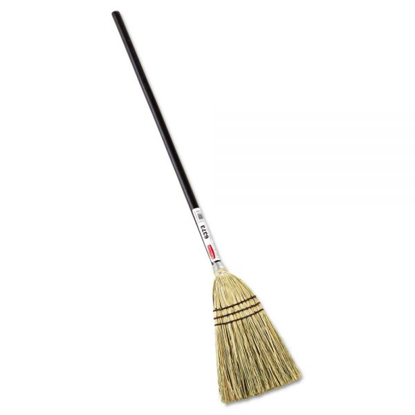 "Rubbermaid Commercial Lobby Corn-Fill Broom, 38"" Handle, Brown"