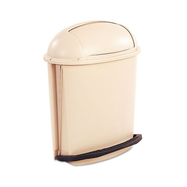 Rubbermaid Hands-Free Pedal Rolltop 14.5 Gallon Trash Can