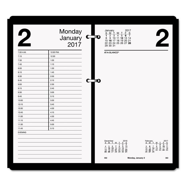 At-A-Glance Large Daily Desk Calendar Refill