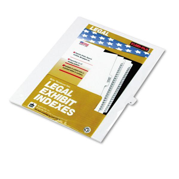 Kleer-Fax 80000 Series Legal Index Dividers
