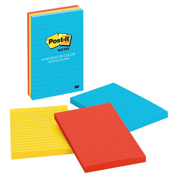 Post-it Ruled/Lined Super Sticky Notes