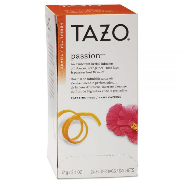 Tazo Tea Bags, Passion, 2.1 oz, 24/Box