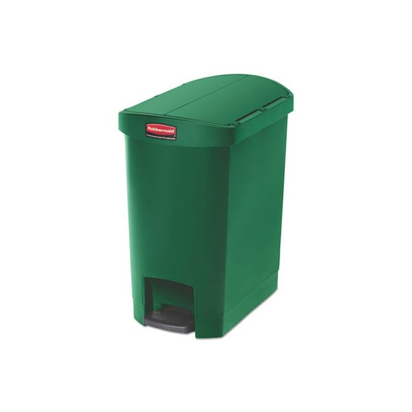 Rubbermaid Commercial Slim Jim Step-On 8 Gallon Trash Can
