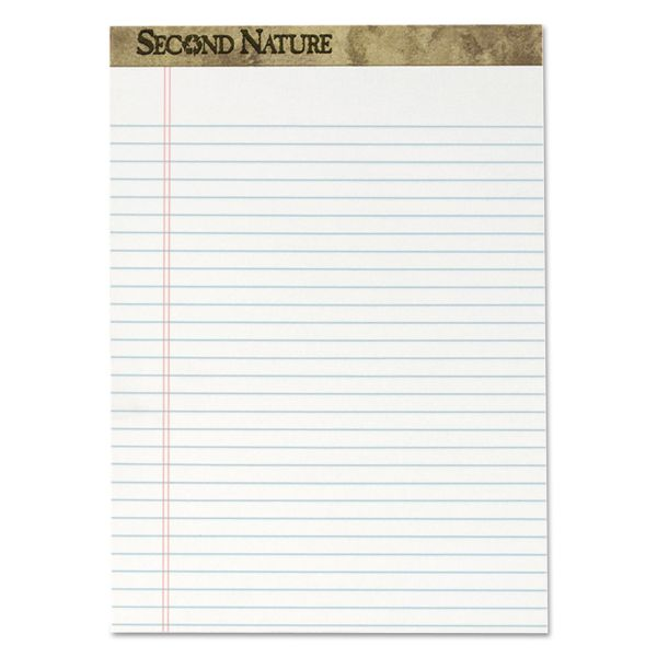 Second Nature Recycled Letter-Size White Legal Pads