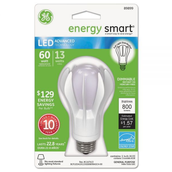 GE Energy Smart® LED 13 Watt A19