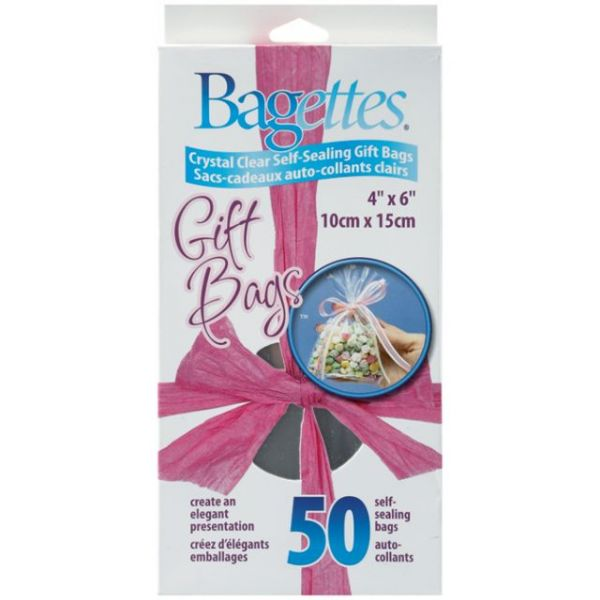 Bagettes Self-Sealing Gift Bags 50/Pkg