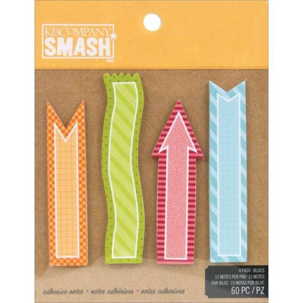 SMASH Sticky Note Pad 60/Pkg
