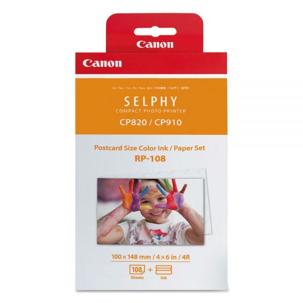 Canon RP-108 Ink Cartridge & Paper Combo Pack (8568B001)
