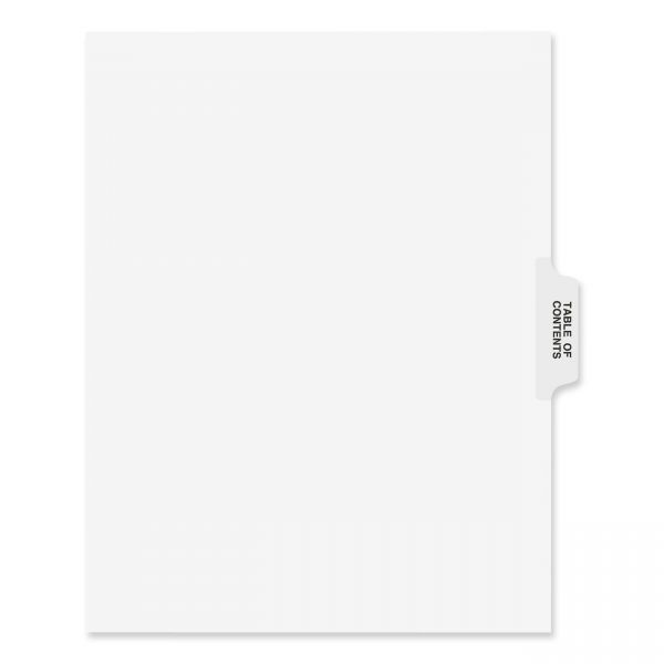 Avery Collated Side Tab Table of Contents Index Dividers