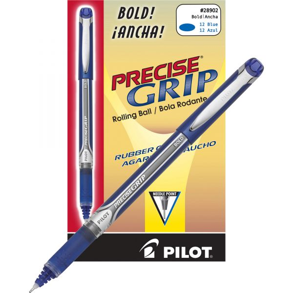 Pilot Precise Grip Bold Capped Rolling Ball Pens