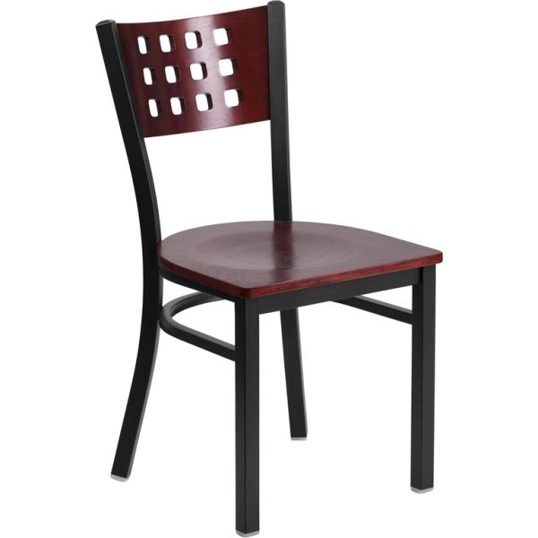 Flash Furniture Decorative Cutout Back Metal Restaurant Chair