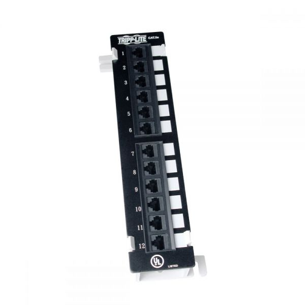 Tripp Lite 12-Port Cat5e Cat5 Wall Mount Patch Panel 568B 110 Punch TAA