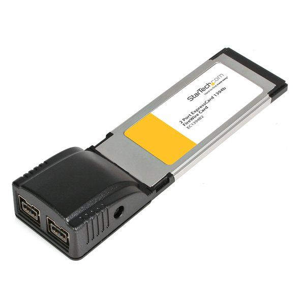 StarTech.com 2 Port ExpressCard 1394b FireWire Laptop Adapter Card