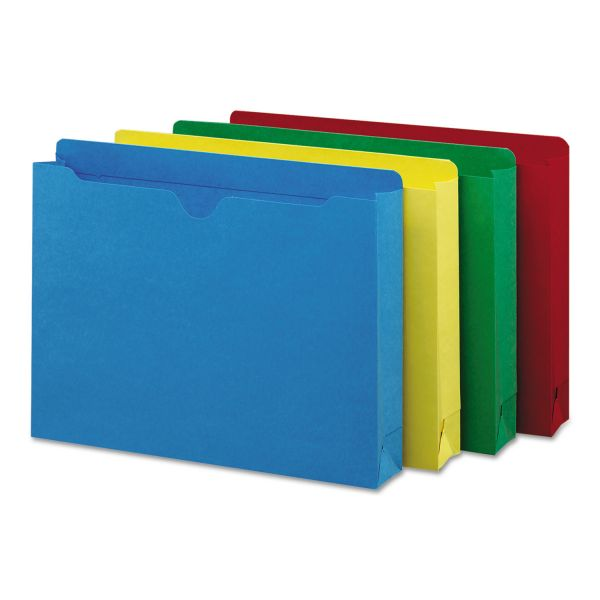 Smead Colored File Jackets w/Reinforced 2-Ply Tab, Letter, Assorted Colors, 50/Box