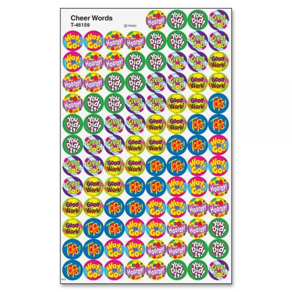 Trend Cheer Words superSpots Stickers