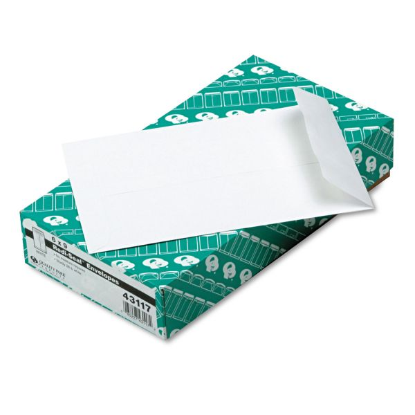 Quality Park Redi Seal Catalog Envelope, #55, 6 x 9, White, 100/Box