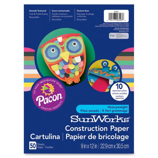 SunWorks Groundwood Blue Construction Paper