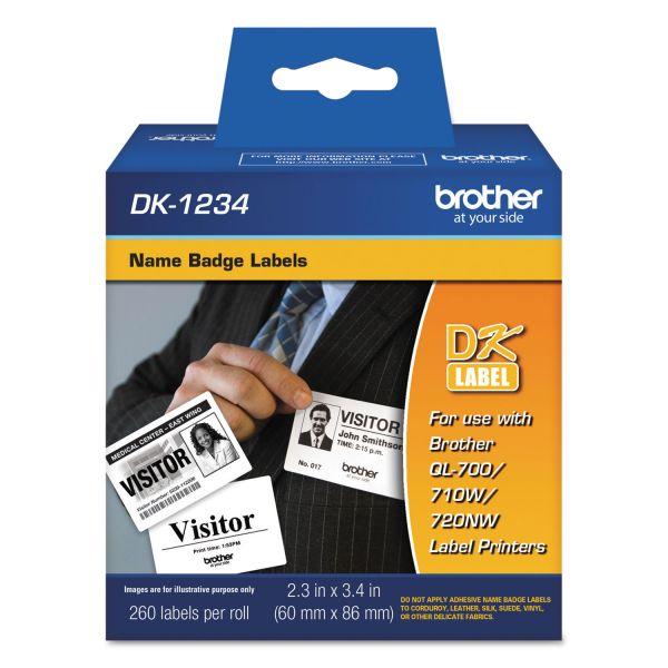 Brother DK1234 - Adhesive Name Badge Labels