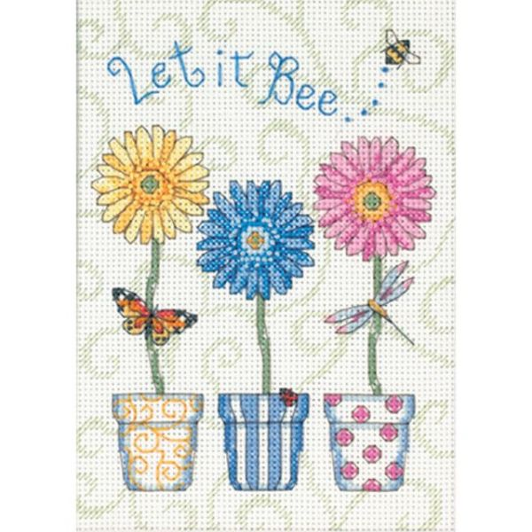 Dimensions Jiffy Let It Bee... Mini Counted Cross Stitch Kit