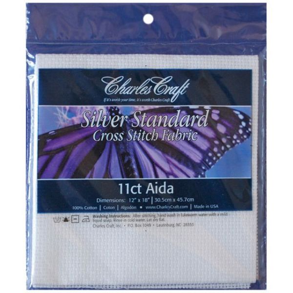 Silver Cross Stitch Aida Fabric