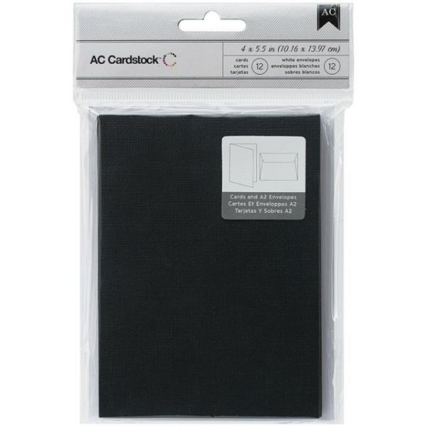 "American Crafts A2 Cards & Envelopes (4.375""X5.75"") 12/Pkg"