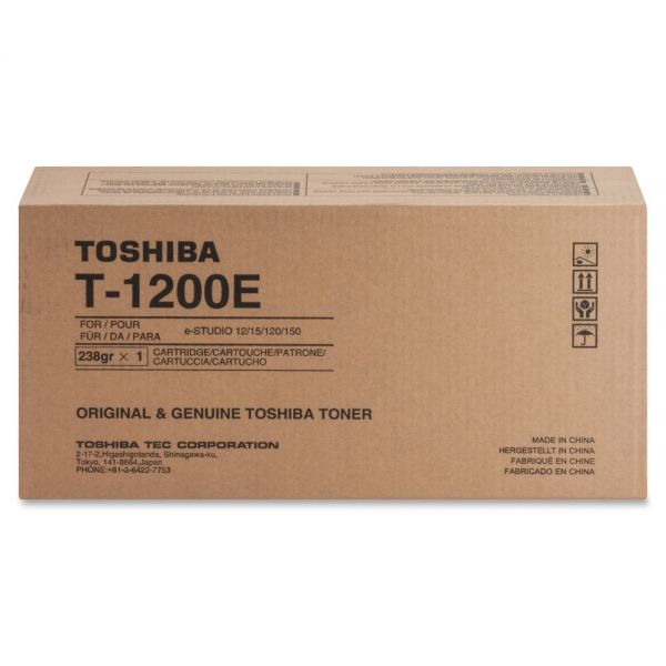 Toshiba T1200E Black Toner Cartridge