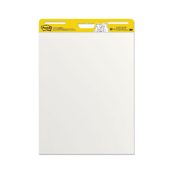 Post-it Easel Pads Self Stick Easel Pads, 25 x 30, White, 2 30 Sheet Pads/Carton