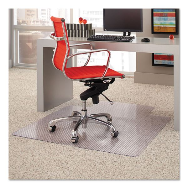 ES Robbins Dimensions Chair Mat for Carpet, 45 x 53 with Lip, Clear