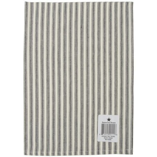 "Cream Ticking Stripe Towel 20""X28"""