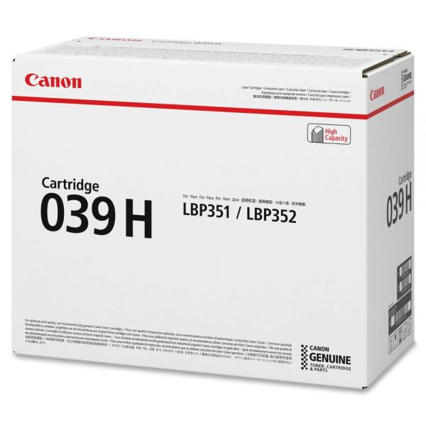 Canon 039H Black High Yield Toner Cartridge (CRTDG039H)