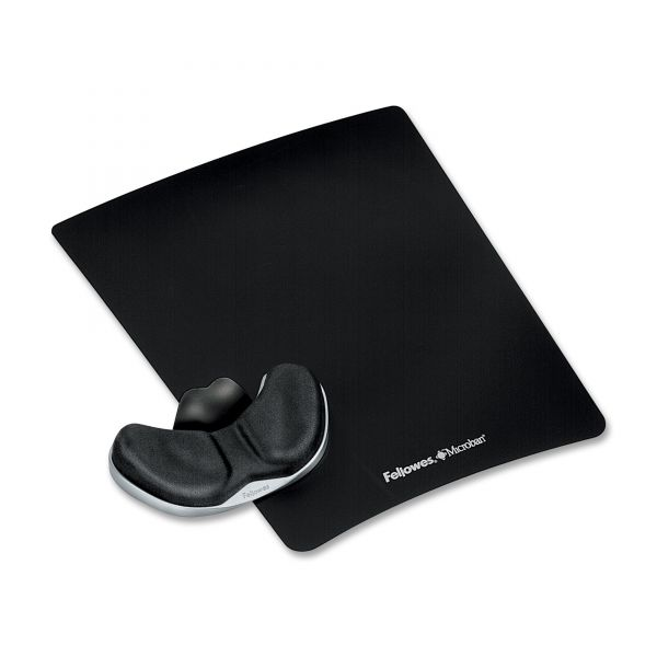 Fellowes Gliding Palm Memory Foam Wrist Rest With Mouse Pad