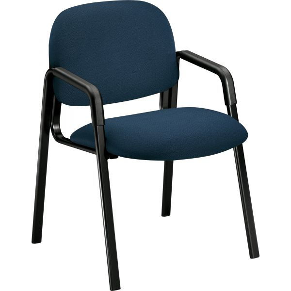 HON Solutions 4000 Series Seating Leg Base Guest Arm Chair, Blue
