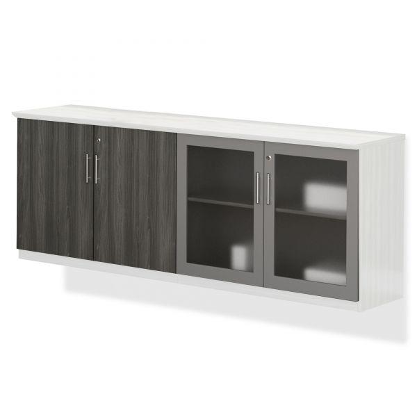 Mayline Medina Series Low Wall Cabinet Doors, Gray Steel