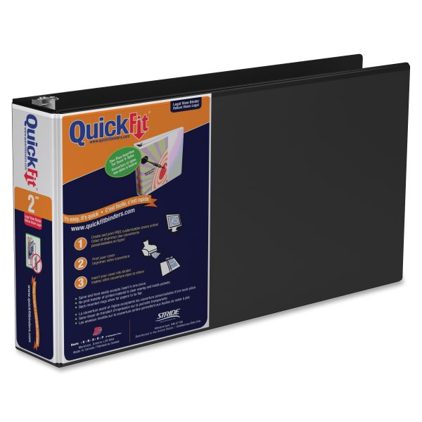"""Stride QuickFit Legal 2"""" 3-Ring View Binder"""