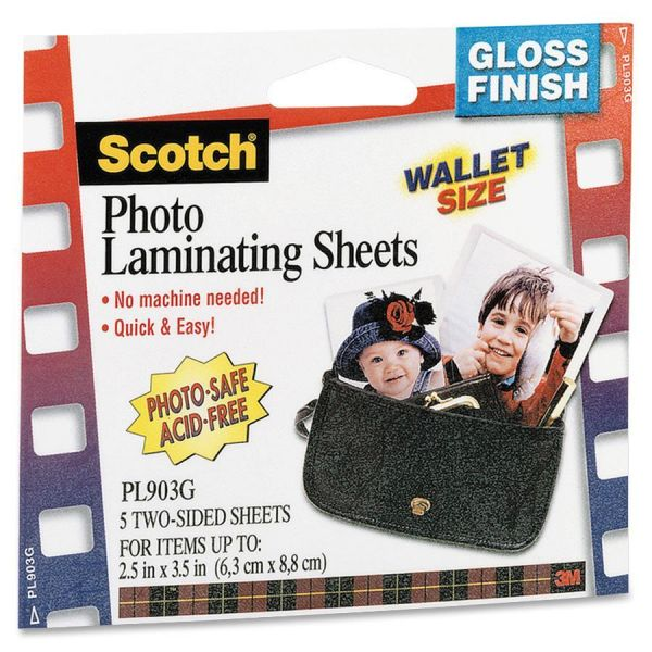 Scotch Self-Seal Photo Laminating Sheets