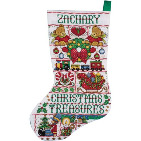 Christmas Treasures Stocking Counted Cross Stitch Kit