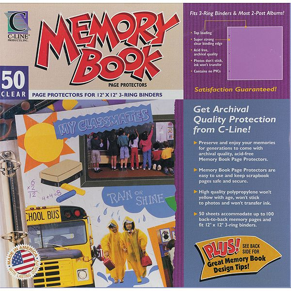 "Memory Book Top-Loading Page Protectors 12""X12"" 50/Pkg"