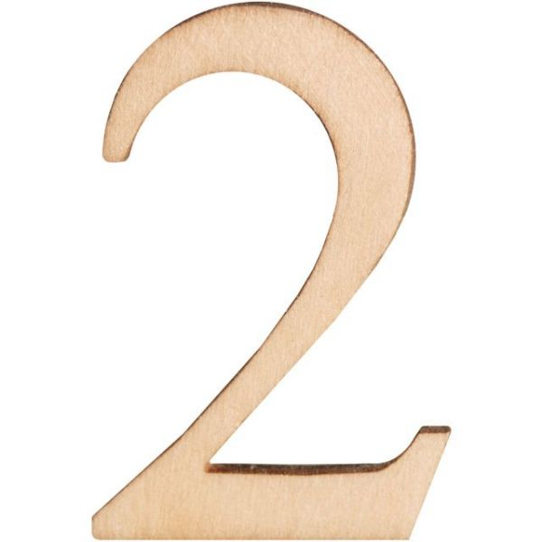 "Wood Letters & Numbers 1.5"" 2/Pkg"