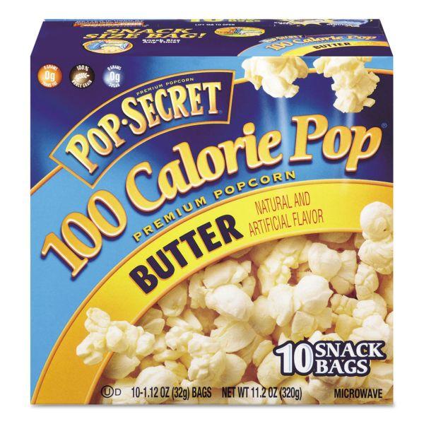 Pop Secret Microwave Popcorn, Butter, 1.2 oz Bags, 10/Box