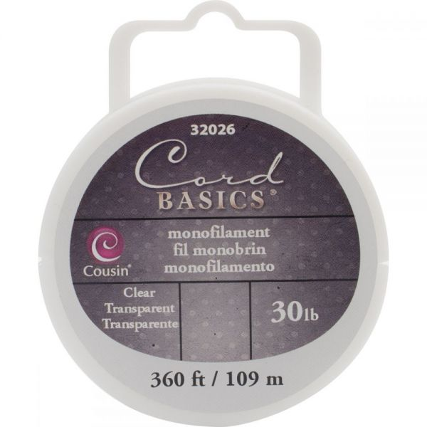 Cord Basics Monofilament Cord 30lb 300'