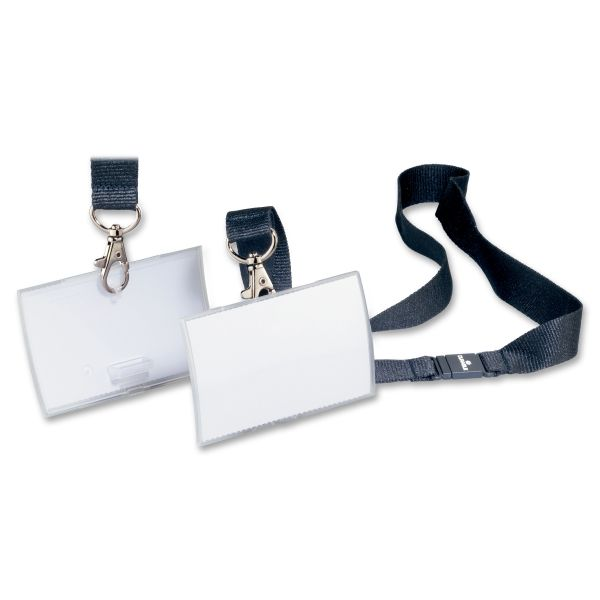 Durable Click-Fold Convex Name Badges with Strap Clips
