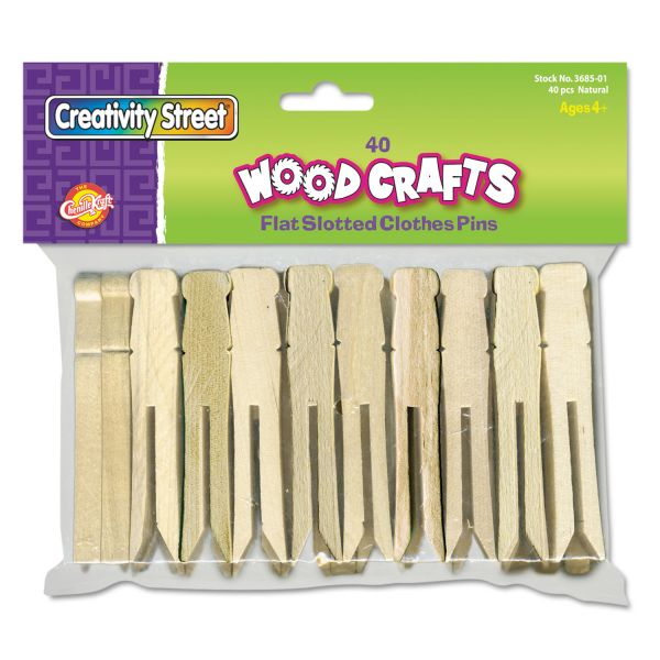 Creativity Street Flat-Slotted Clothes Pins