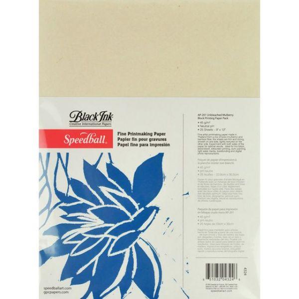 "Speedball Fine Printmaking Paper 9""X12"" 25/Pkg"