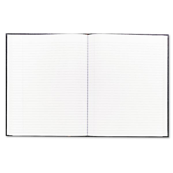 Blueline Large Executive Notebook w/Cover, 10 3/4 x 8 1/2, Letter, Black Cover, 75 Sheets