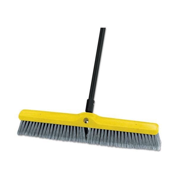 "Rubbermaid Commercial Medium Floor Sweeper Head, 24"", Polypropylene/Tampico, 12/Carton"