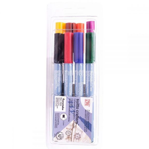 Zig Suitto Crafters Calligraphy Marker Set 8/Pkg